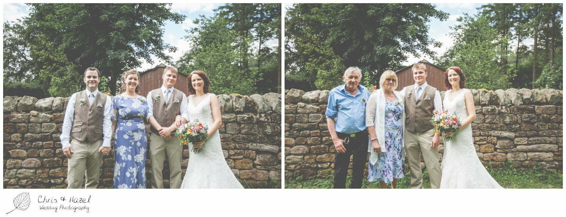 wedding formal photographs woodland, eco wedding, wedding, Eccup Wedding Photographer, Lineham Farm, Wedding Photography Leeds, Chris and Hazel Wedding Photography, Richard Wyatt, Laura Kelly