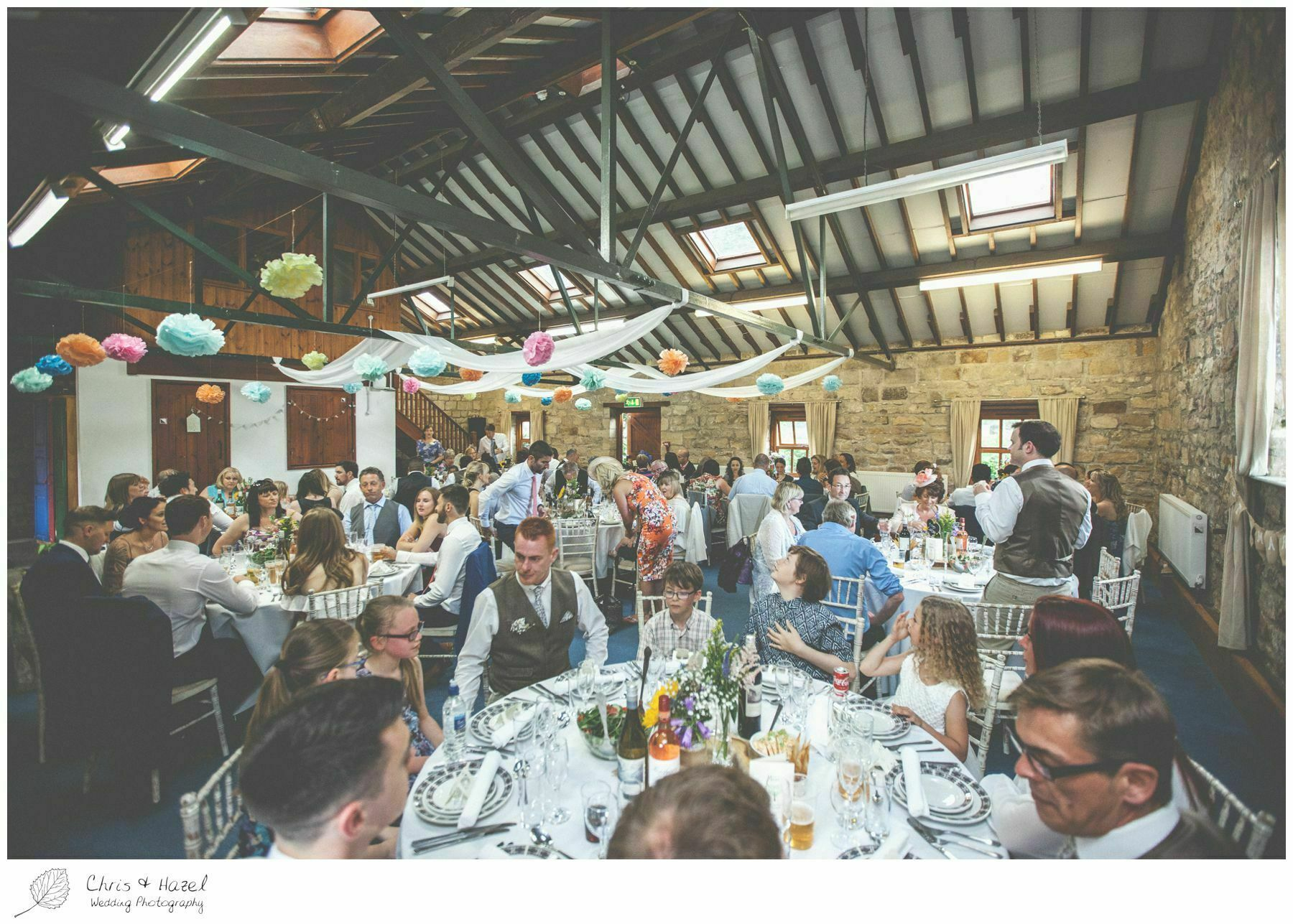 wedding breakfast barn, wood wedding theme, eco wedding, love letters, wedding, Eccup Wedding Photographer, Lineham Farm, Wedding Photography Leeds, Chris and Hazel Wedding Photography, Richard Wyatt, Laura Kelly