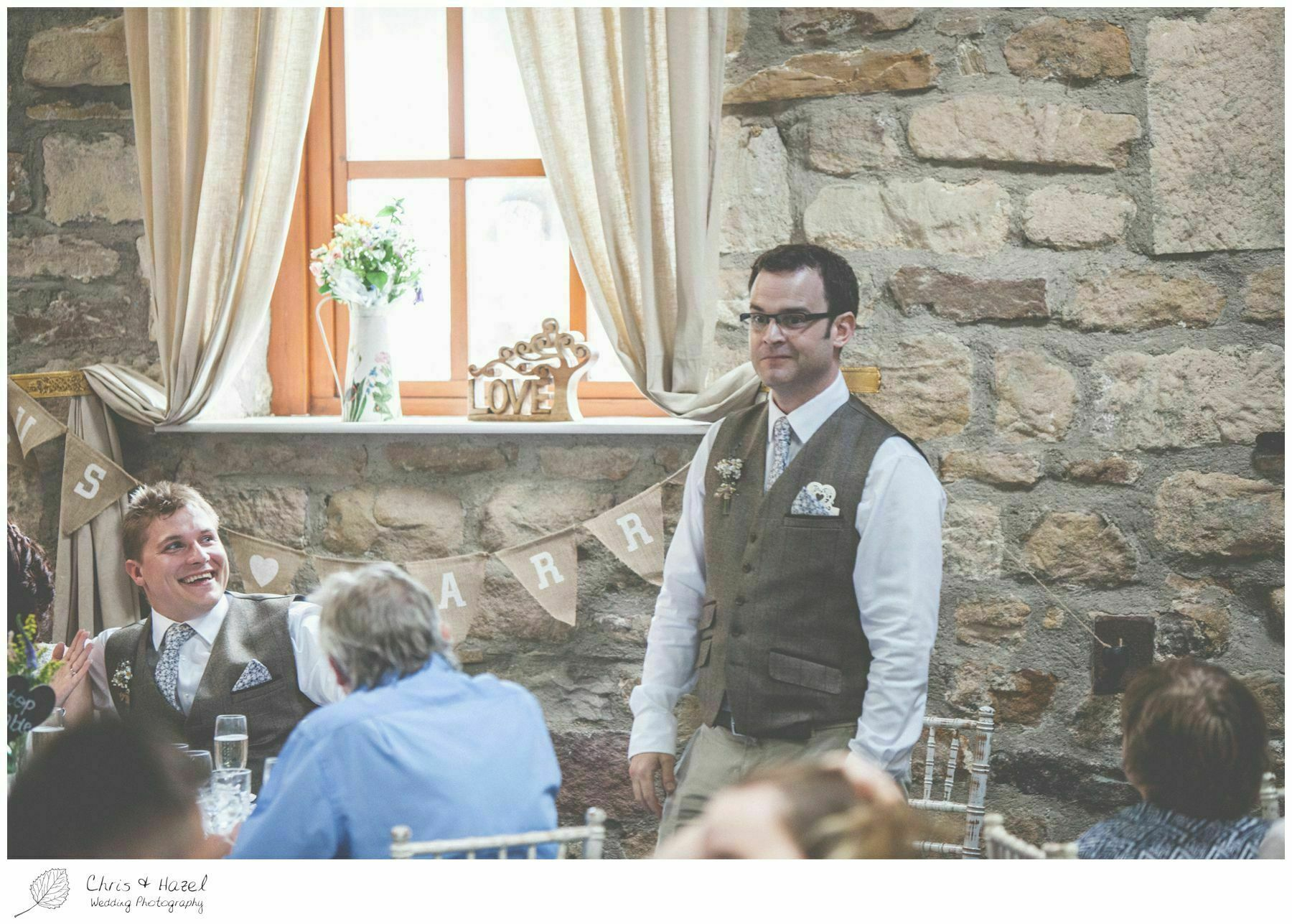 best man speech, wedding breakfast barn, wood wedding theme, eco wedding, love letters, wedding, Eccup Wedding Photographer, Lineham Farm, Wedding Photography Leeds, Chris and Hazel Wedding Photography, Richard Wyatt, Laura Kelly