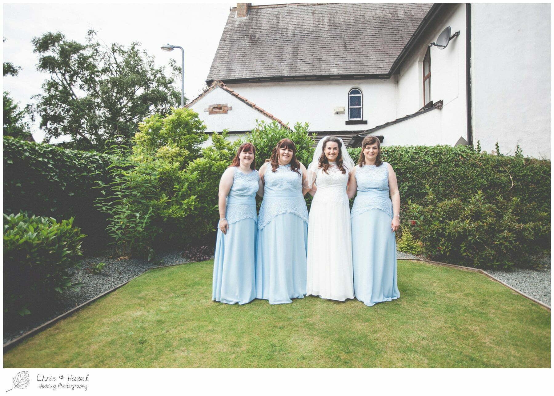 bride with bridesmaids, wedding, south milford Wedding Photographer, the engine shed, Wedding Photography wetherby, Chris and Hazel Wedding Photography, stevie pollard, stevie standerline, paul standerline,