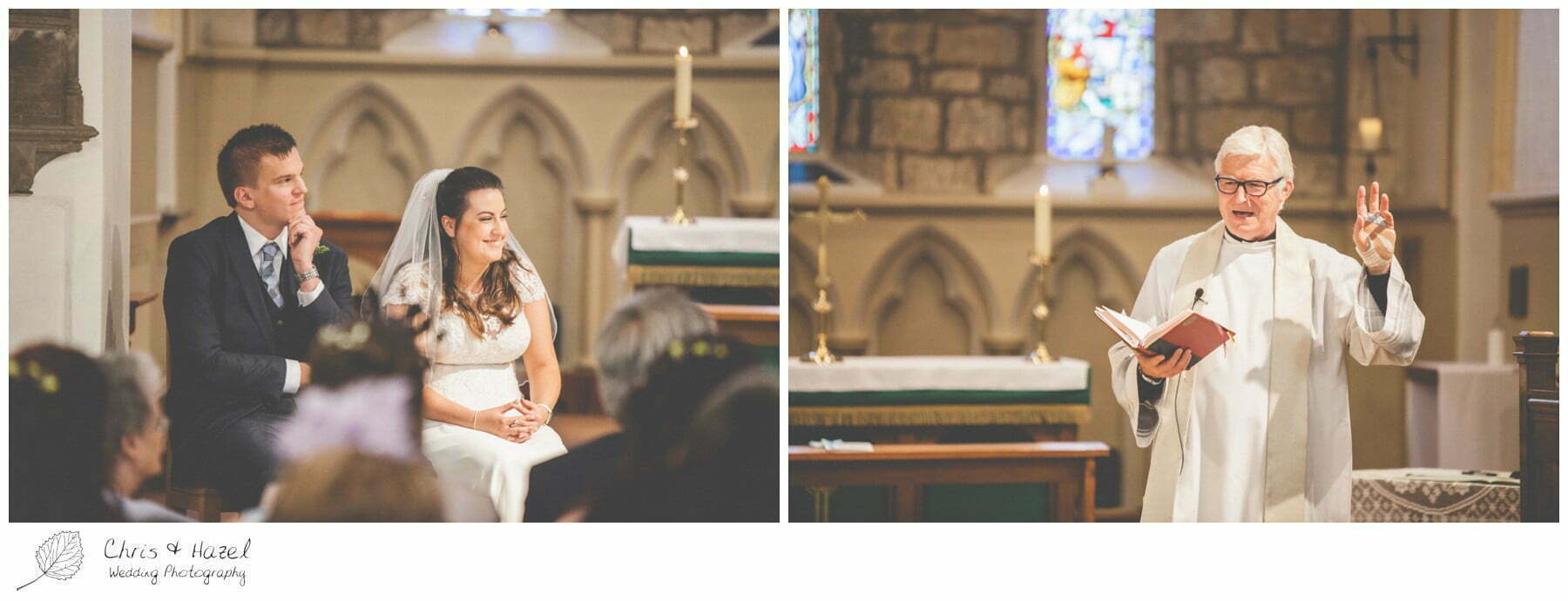 bride and groom at altar, st marys church, wedding, south milford Wedding Photographer, the engine shed, Wedding Photography wetherby, Chris and Hazel Wedding Photography, stevie pollard, stevie standerline, paul standerline,
