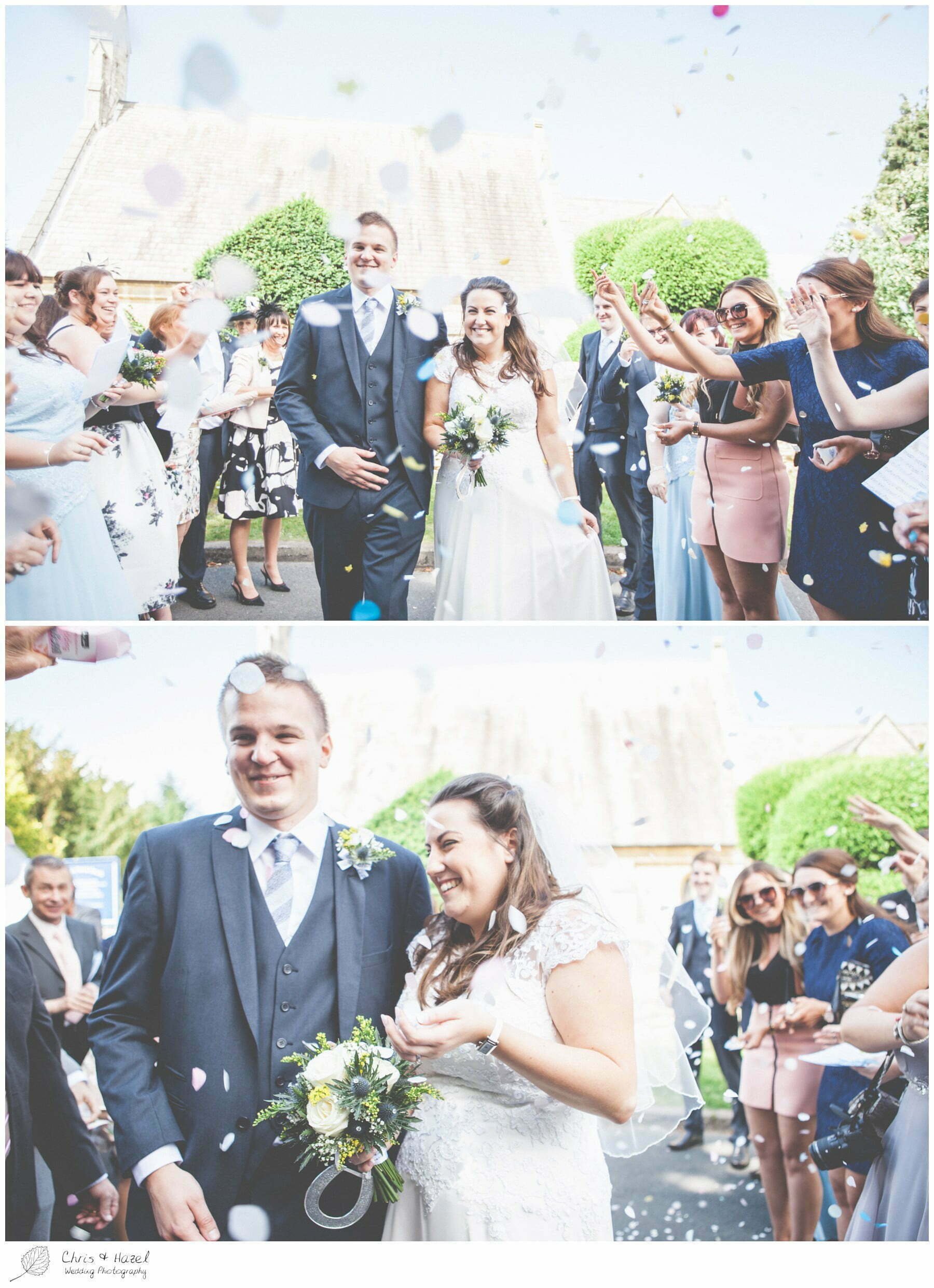 confetti shot, st marys church, wedding, south milford Wedding Photographer, the engine shed, Wedding Photography wetherby, Chris and Hazel Wedding Photography, stevie pollard, stevie standerline, paul standerline,