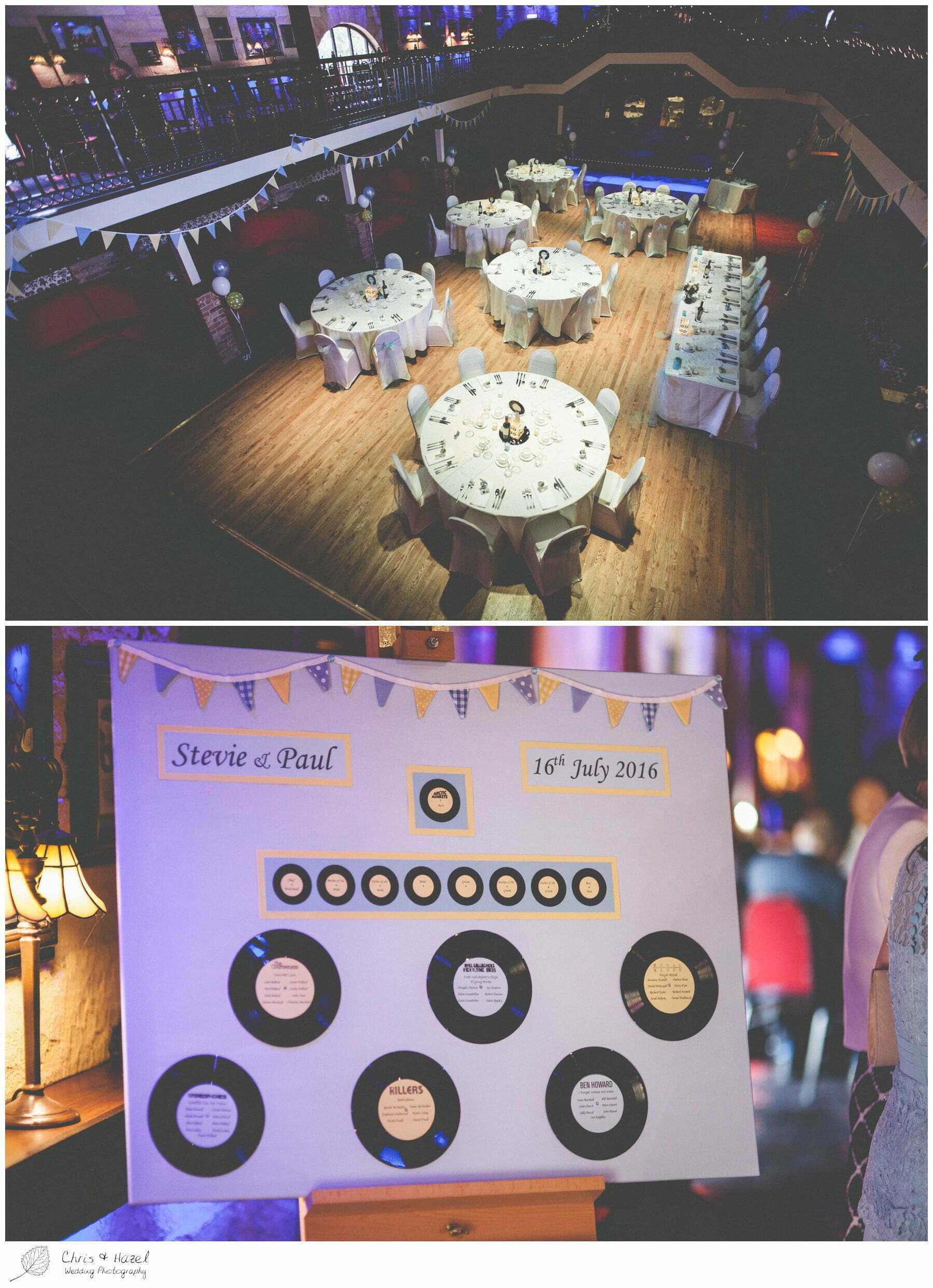 Seating plan vinyl records music theme, wedding, south milford Wedding Photographer, the engine shed, wetherby wedding venue, Wedding Photography wetherby, Chris and Hazel Wedding Photography, stevie pollard, stevie standerline, paul standerline,