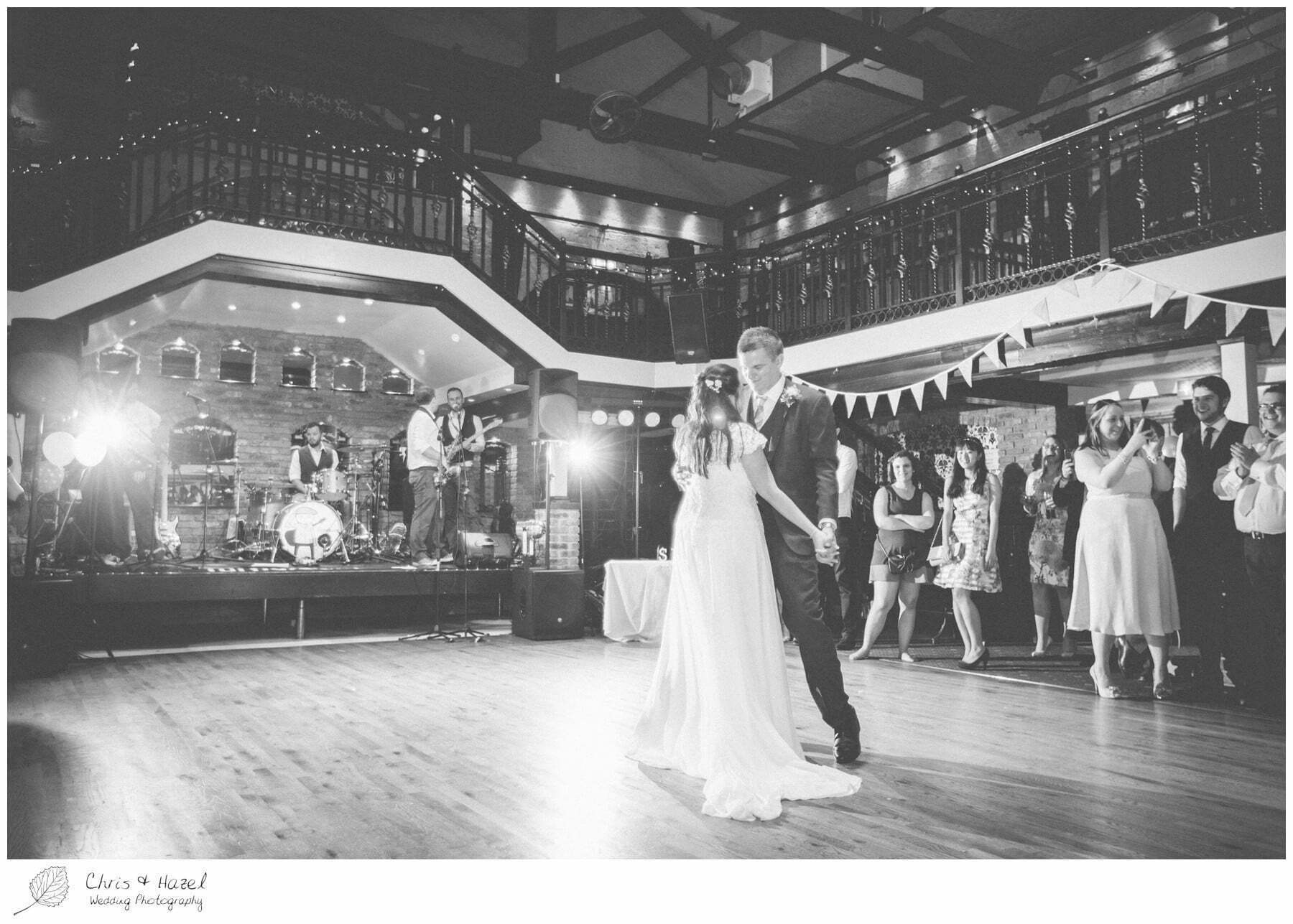 bride and groom first dance, first dance, wedding, south milford Wedding Photographer, the engine shed, wetherby wedding venue, Wedding Photography wetherby, Chris and Hazel Wedding Photography, stevie pollard, stevie standerline, paul standerline,