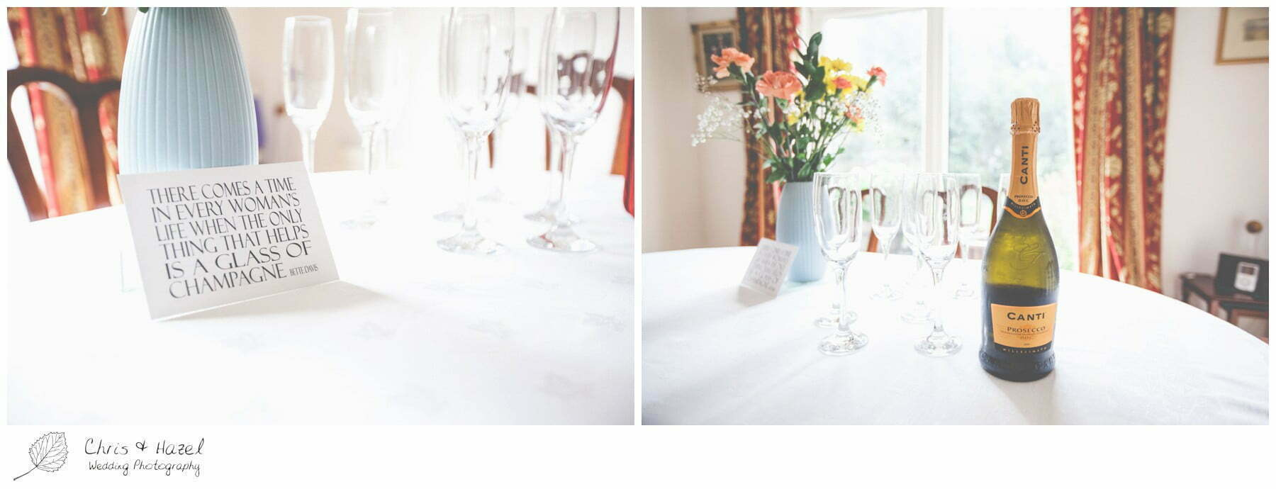 wedding flowers, prosecco, Preston Wedding Photographer, preston, wedding, photographer, Bartle Hall Wedding Photographer, battle hall, Lancashire wedding photographer, Chris and Hazel Wedding Photography, Tom Goulding, Micha Waite, Micha Goulding,