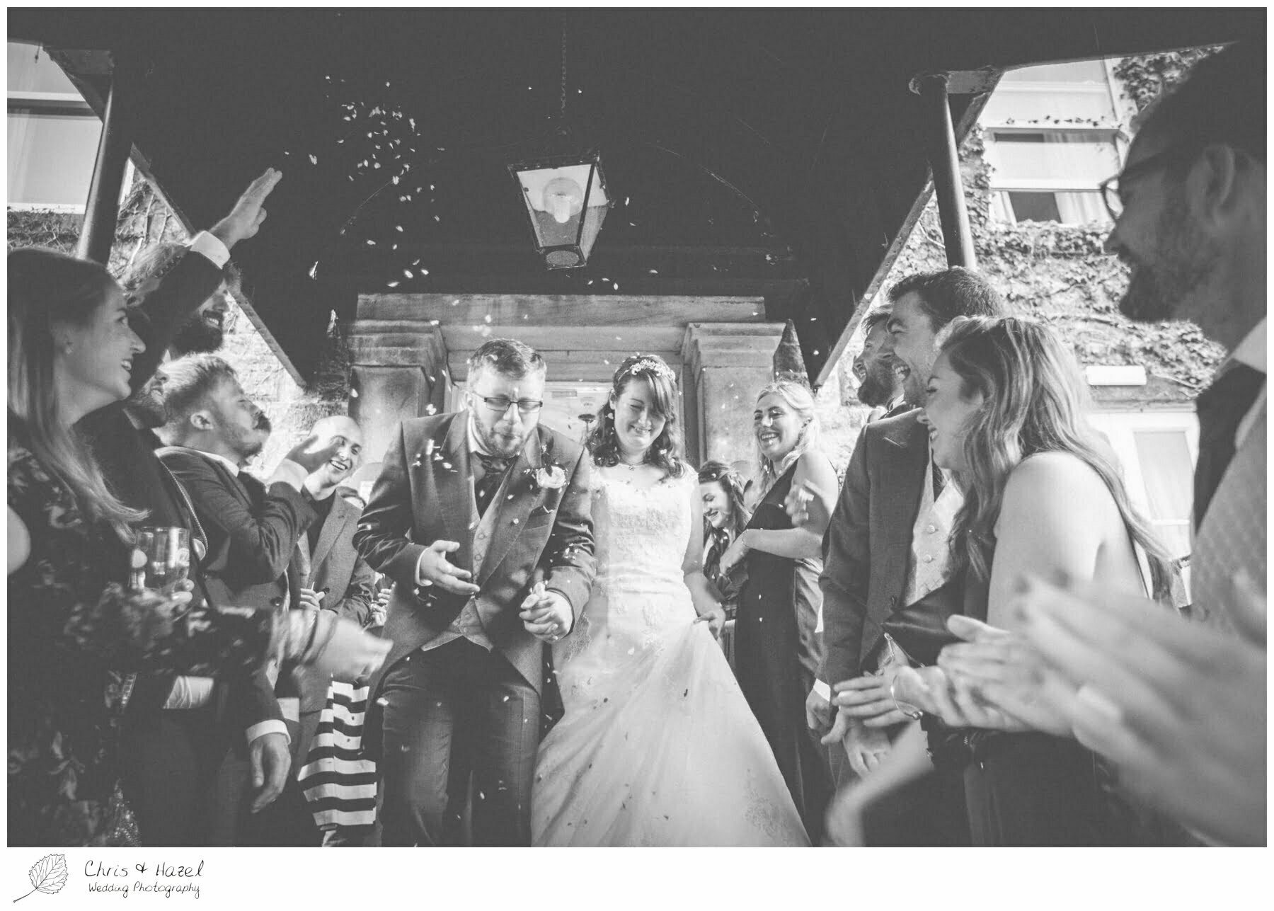 bride and groom confetti, documentary wedding photography, Ilkley wedding photographer, Ilkley wedding photography, The Craiglands hotel wedding photography, west Yorkshire wedding photography, chris and hazel wedding photography, emily nunwick, sam nicholson, emily nicholson,
