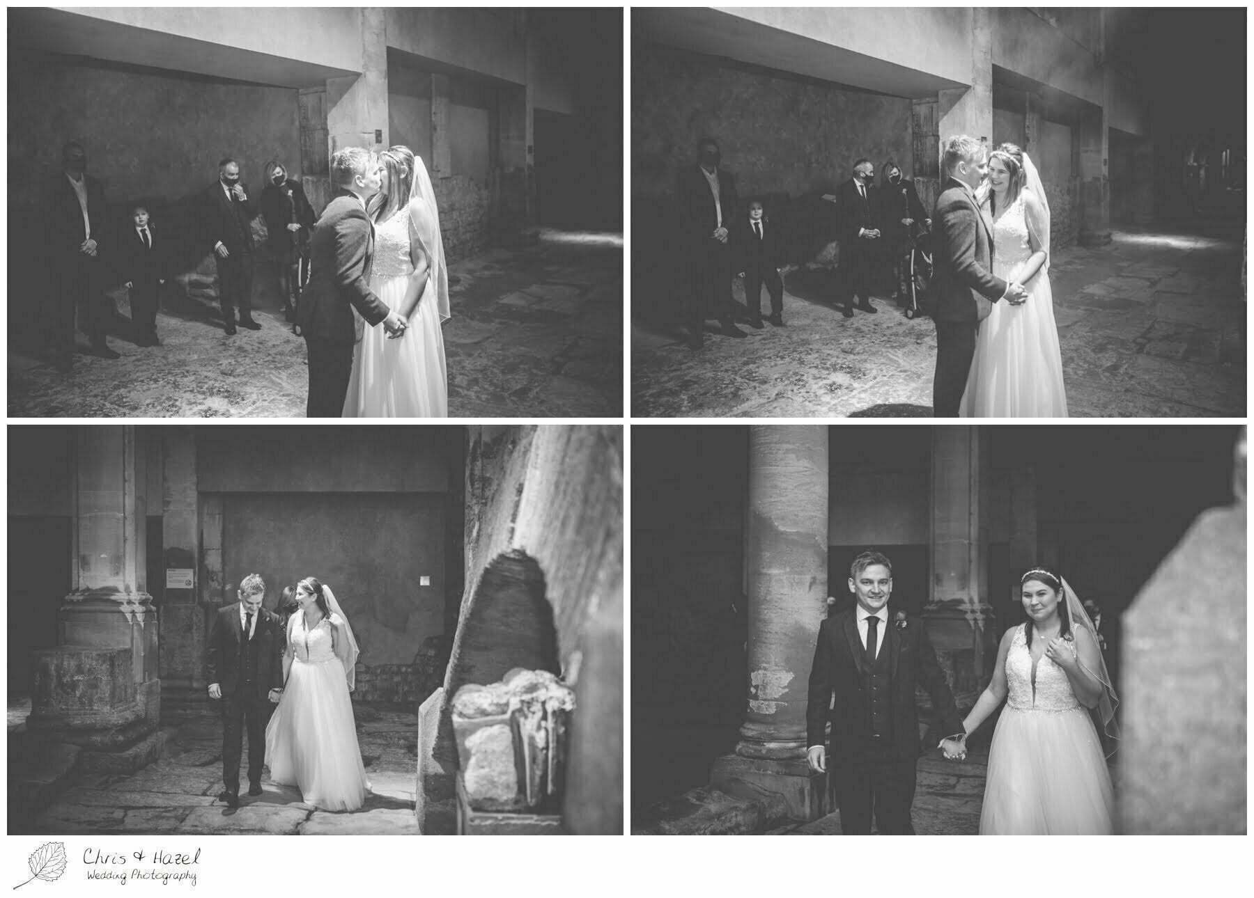 Bride and Groom Wedding Ceremony at Roman Baths Pump Rooms, The Roman Baths Wedding Photography, Roman Baths Wedding Photographer, Wedding in Bath, Bath Wedding Day, documentary wedding photography, Chris and Hazel Wedding Photography Bath, Sammie Singfield Scott Brown