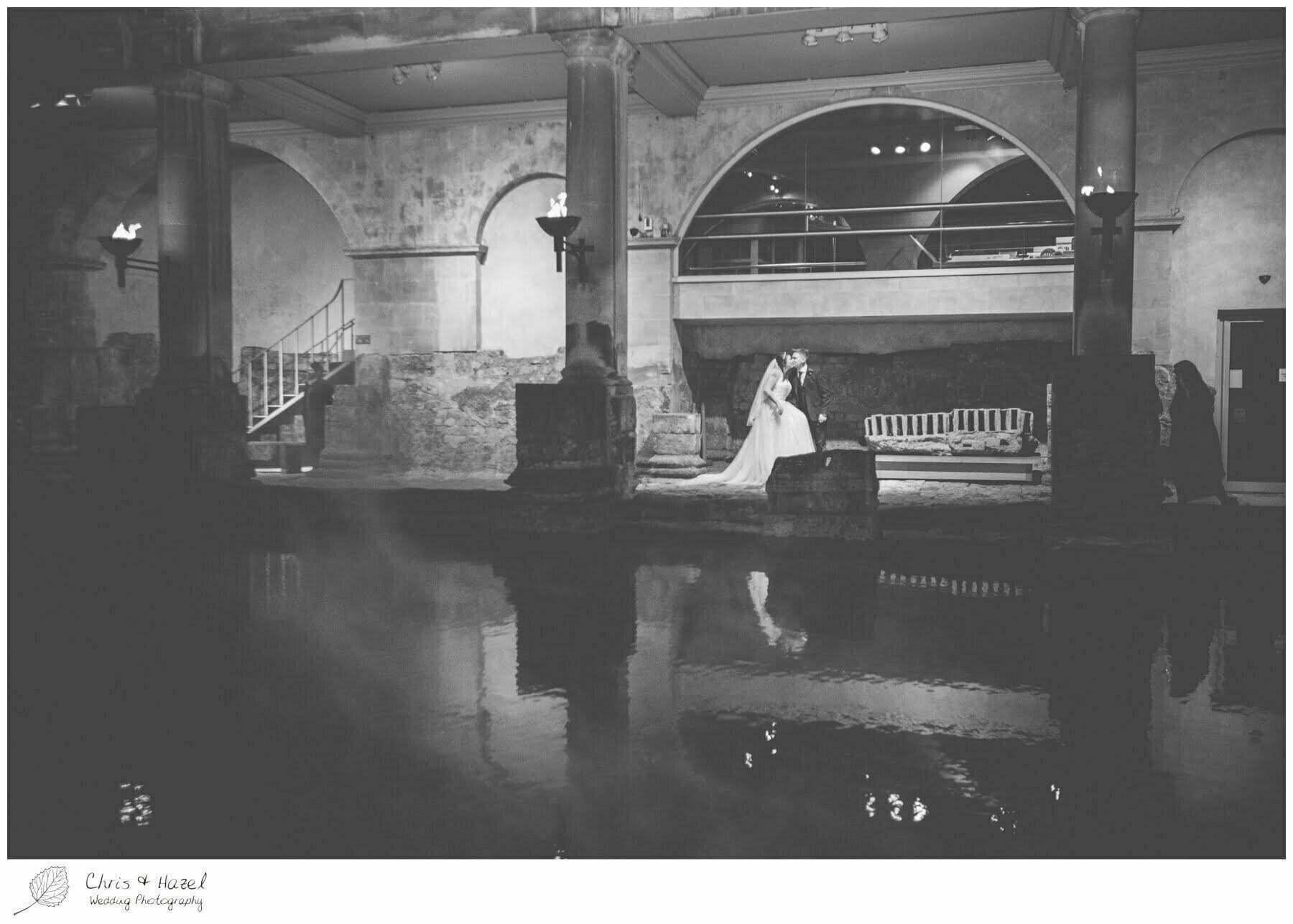 Bridal portraits, Bride and Groom at Roman Baths Pump Rooms, The Roman Baths Wedding Photography, Roman Baths Wedding Photographer, Wedding in Bath, Bath Wedding Day, documentary wedding photography, Chris and Hazel Wedding Photography Bath, Sammie Singfield Scott Brown