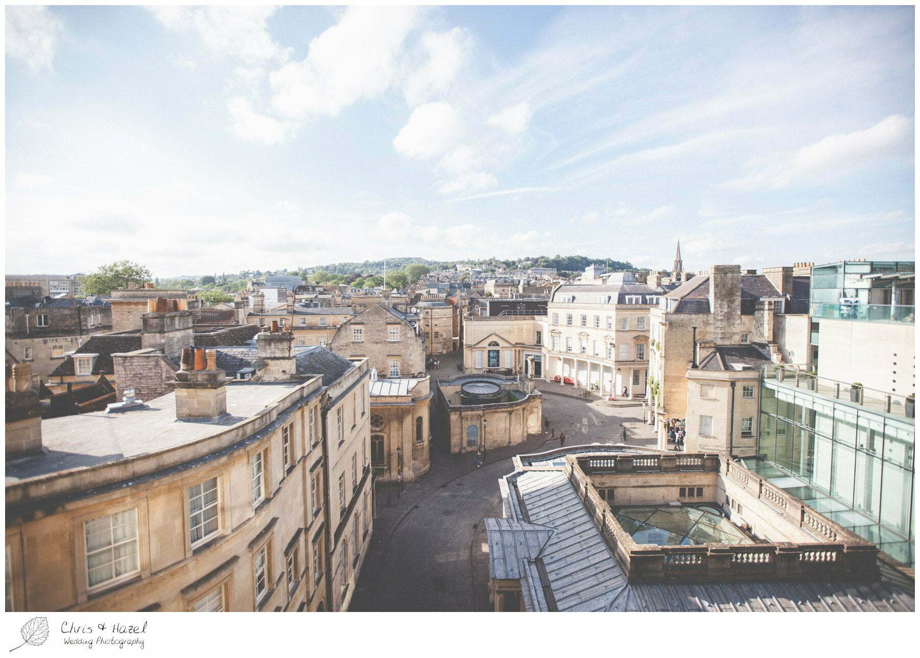 View out over Bath City centre, Wedding preparations, The Gainsborough Bath Spa hotel, Gainsborough Hotel Bath, documentary wedding photography, Chris and Hazel Wedding Photography Bath, Andy Frost Sian Upson