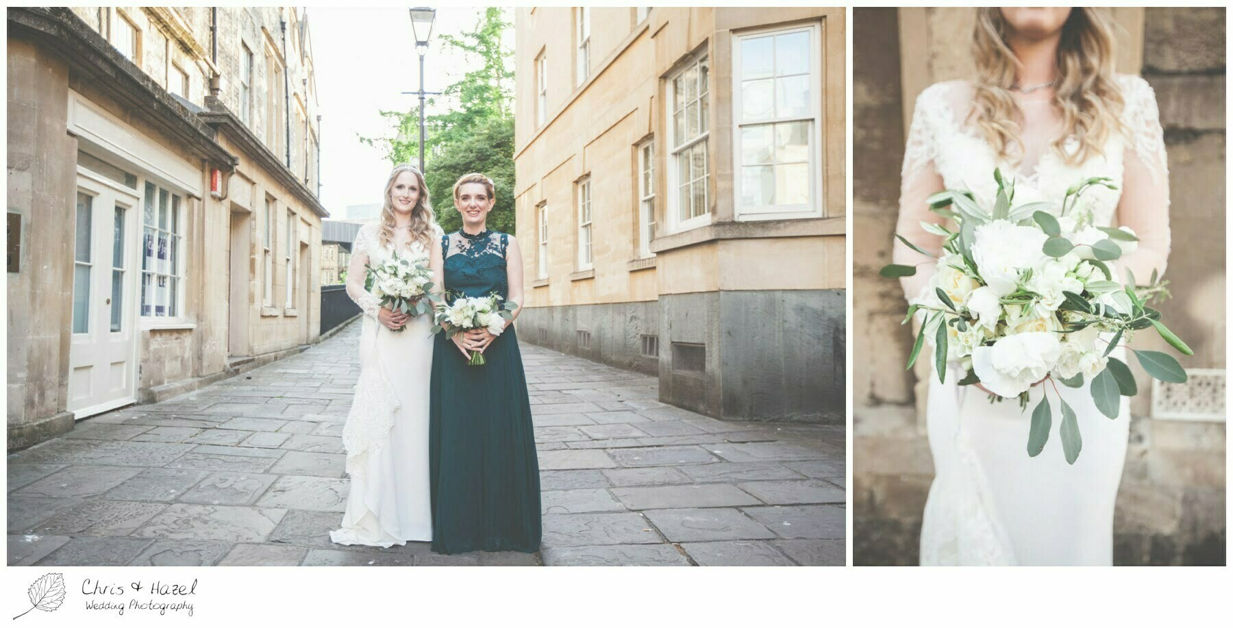 Bride and maid of honour bridesmaid, The Roman Baths Wedding Photography, Roman Baths Wedding Photographer, Wedding in Bath, Bath Wedding Day, documentary wedding photography, Chris and Hazel Wedding Photography Bath, Andy Frost Sian Upson