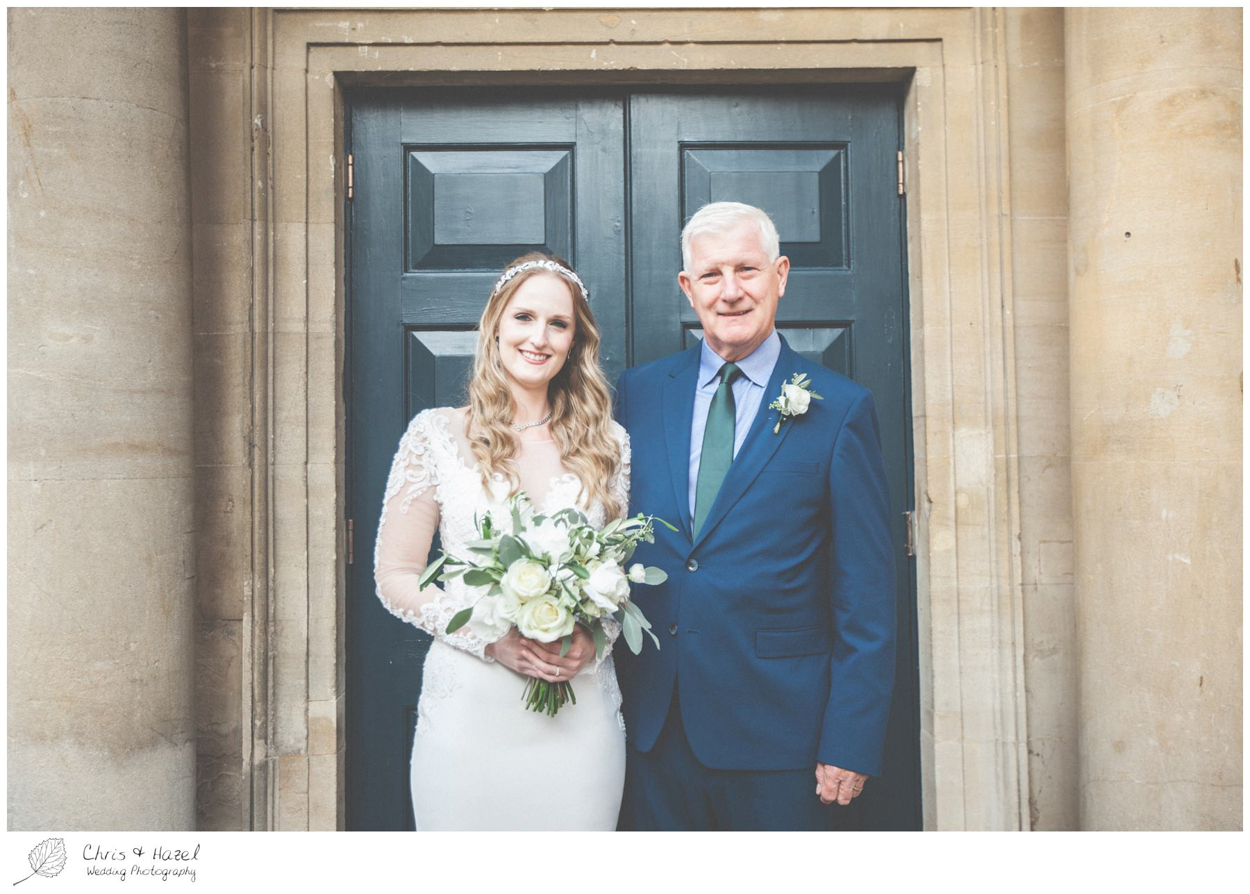 Bride with Father, The Roman Baths Wedding Photography, Roman Baths Wedding Photographer, Wedding in Bath, Bath Wedding Day, documentary wedding photography, Chris and Hazel Wedding Photography Bath, Andy Frost Sian Upson