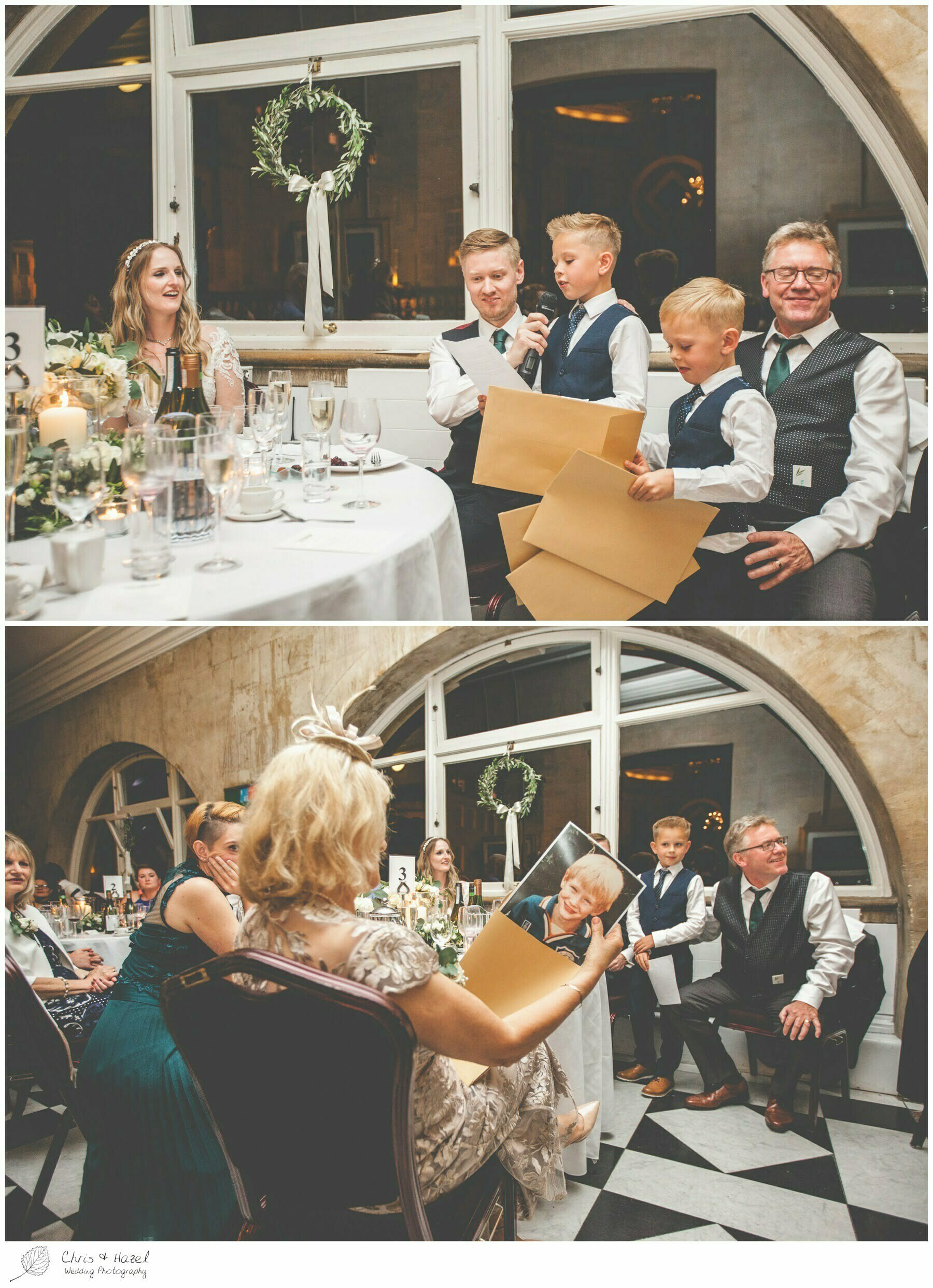 Kids wedding speech, Wedding speeches, wedding breakfast on the terrace at Roman Baths Pump Rooms, The Roman Baths Wedding Photography, Roman Baths Wedding Photographer, Wedding in Bath, Bath Wedding Day, documentary wedding photography, Chris and Hazel Wedding Photography Bath, Andy Frost Sian Upson