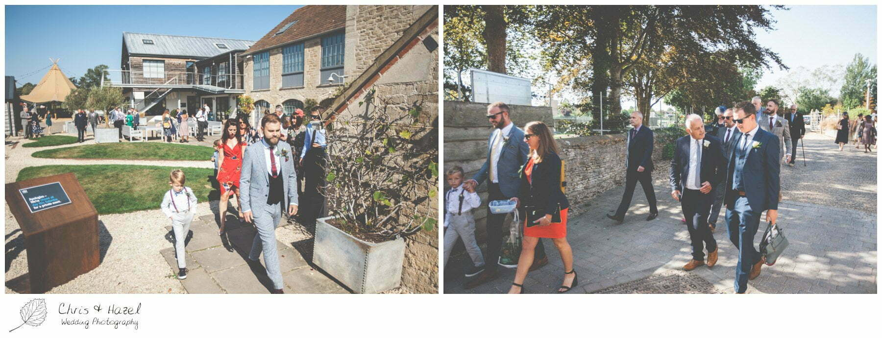 Wedding Guests leaving The Glove Factory Wedding Photography, Wiltshire Wedding Photographer Trowbridge, Chris and Hazel Wedding Photography