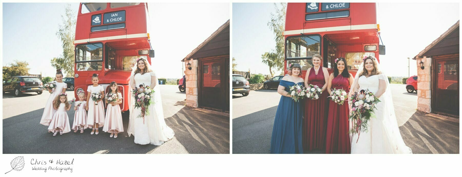 Bride and Bridesmaids at The Tollgate Inn, Wedding Photography, Wiltshire Wedding Photographer Trowbridge, Chris and Hazel Wedding Photography