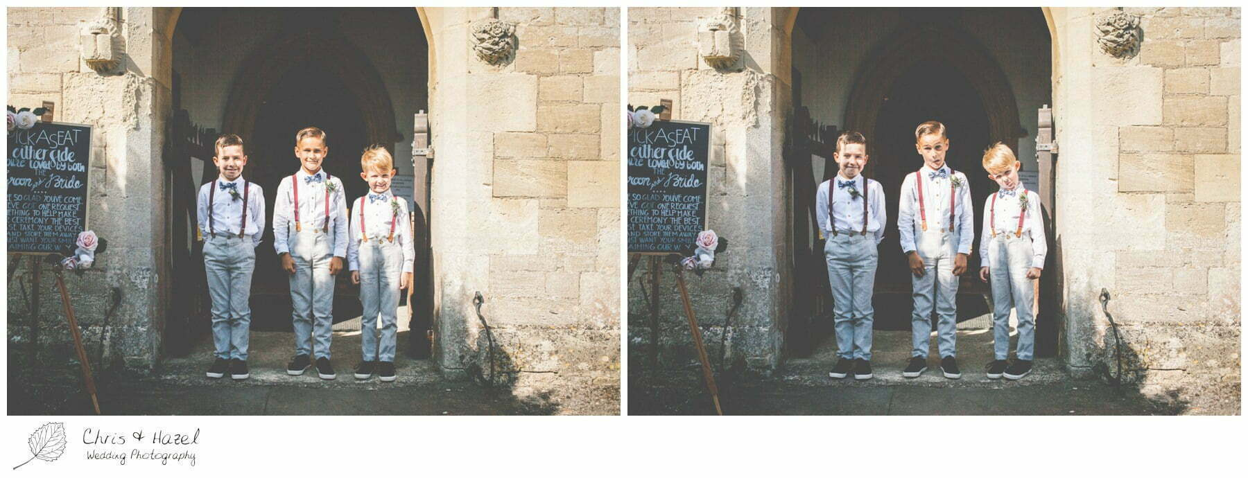 Page boys Hilperton Church, St Michael & All Angels' Church, Wedding Photography, Wiltshire Wedding Photographer Trowbridge, Chris and Hazel Wedding Photography