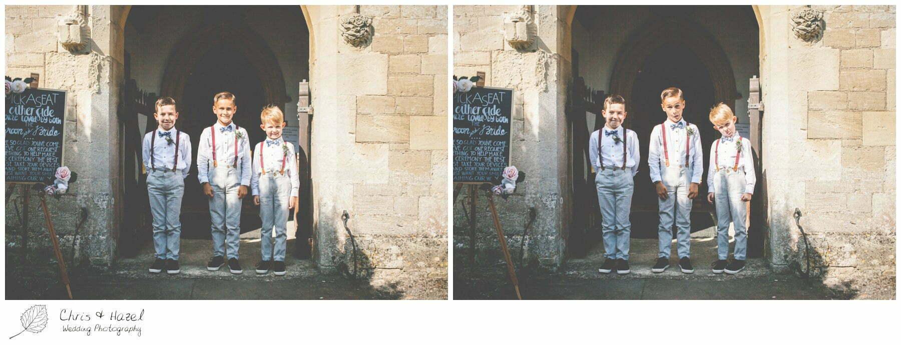 Page boys Hilperton Church, St Michael & All Angels' Church, Wedding Photography, Wiltshire Wedding Photographer Trowbridge, Chris and Hazel Wedding Photography