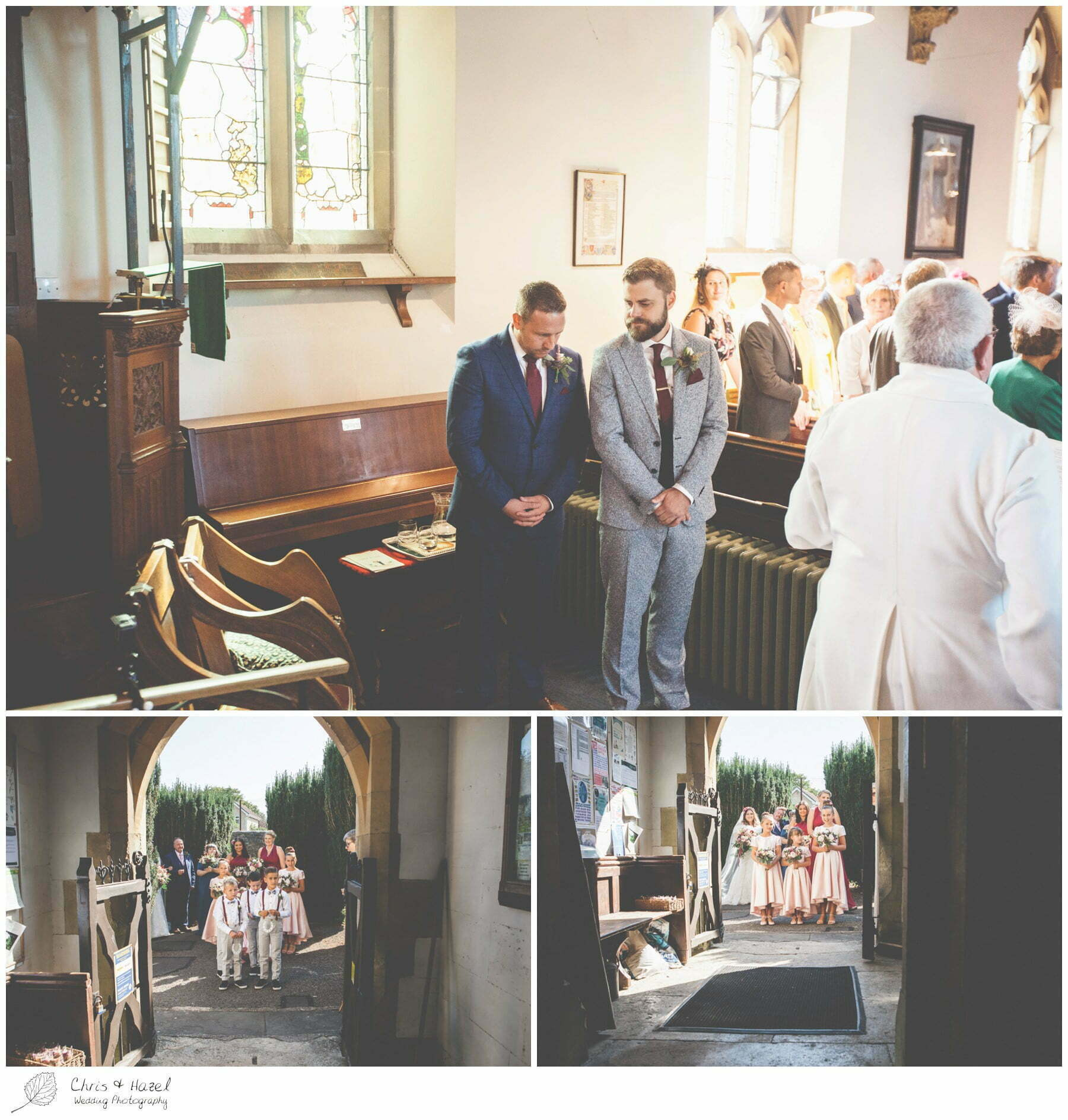 Bridesmaids and Page Boys outside Hilperton Church, St Michael & All Angels' Church, Wedding Photography, Wiltshire Wedding Photographer Trowbridge, Chris and Hazel Wedding Photography
