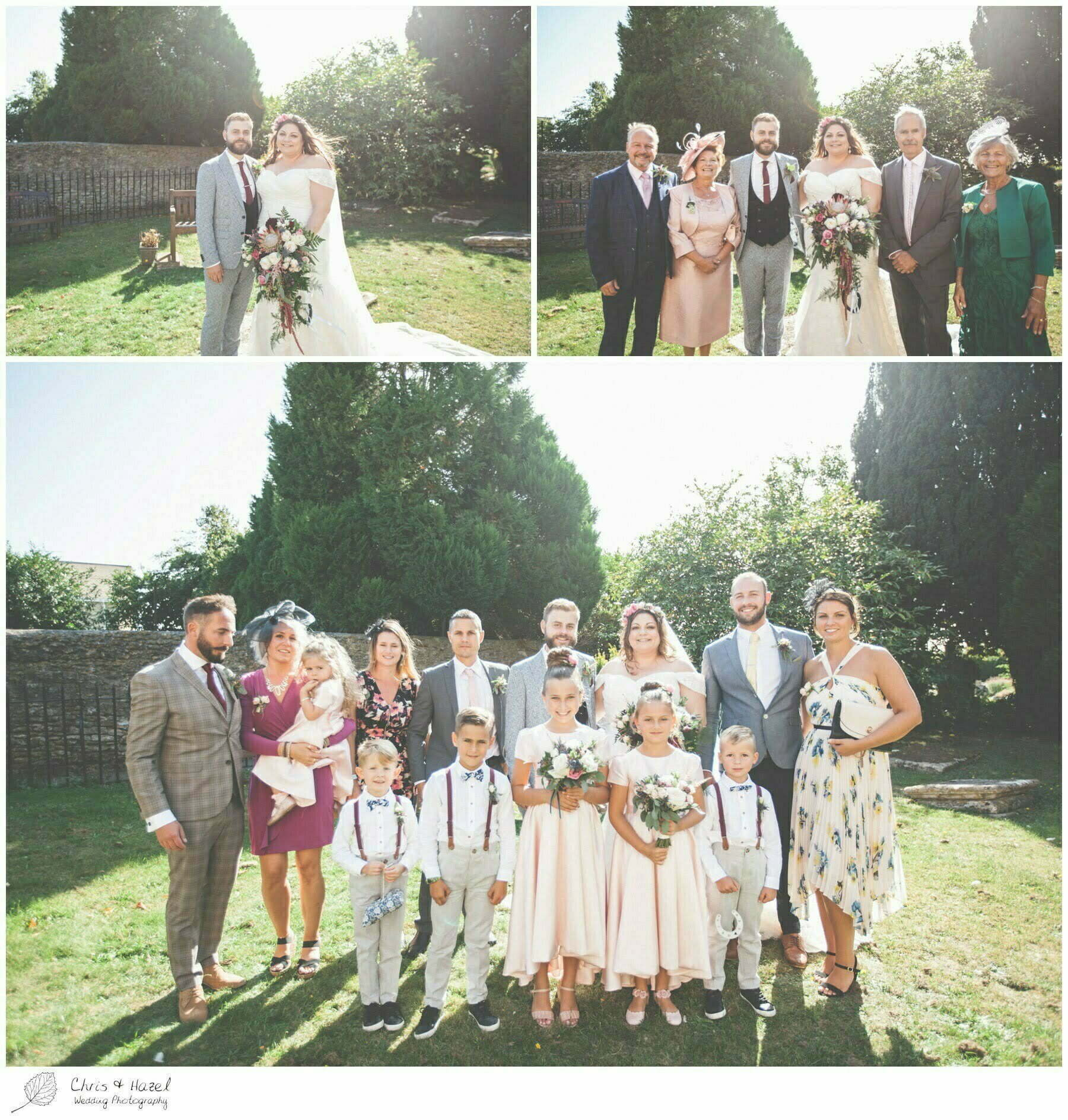 Weding formal family photographs outside the church, Hilperton Church, St Michael & All Angels' Church, Wedding Photography, Wiltshire Wedding Photographer Trowbridge, Chris and Hazel Wedding Photography
