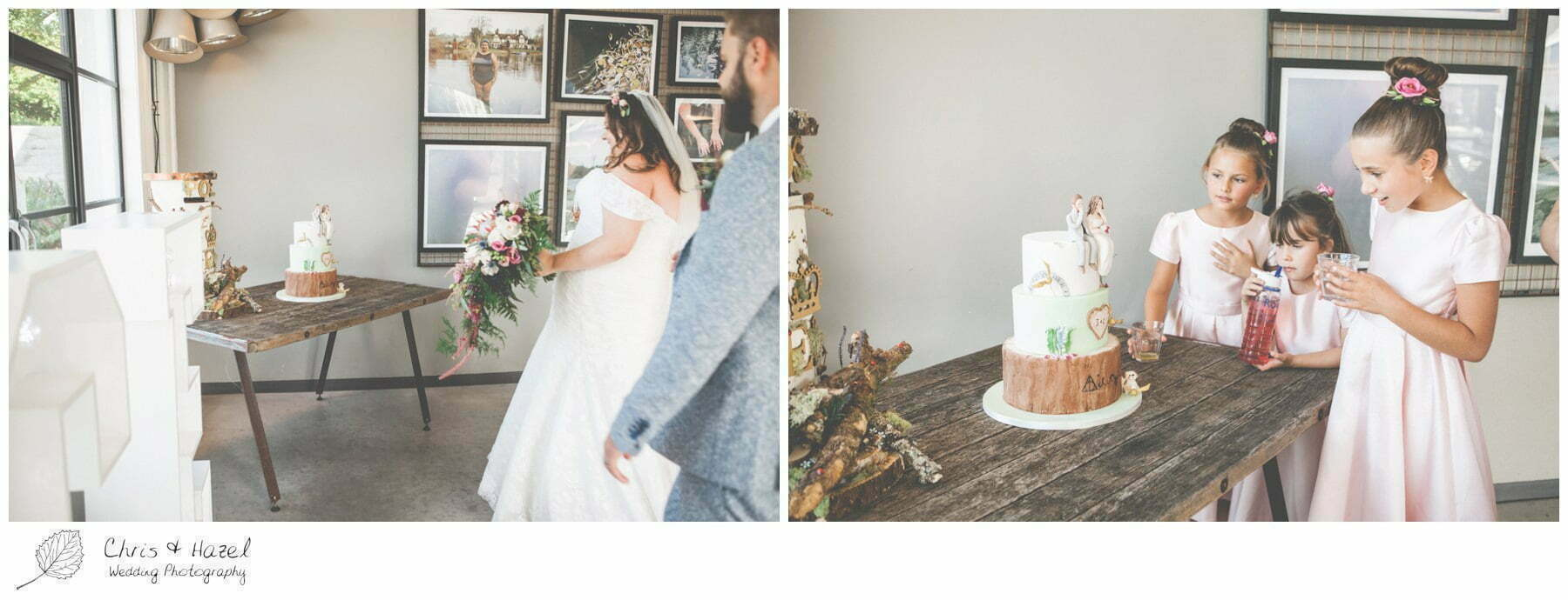 Wedding Cake, Woodland inspired, The Glove Factory Wedding Photography, Wiltshire Wedding Photographer Trowbridge, Chris and Hazel Wedding Photography
